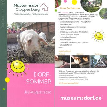 <center>Dorfsommer im Museumsdorf </center>